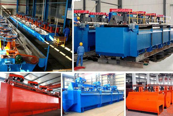 Flotation machine in the factory