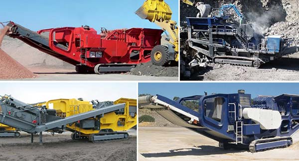 Mobile Impact Crusher on Working