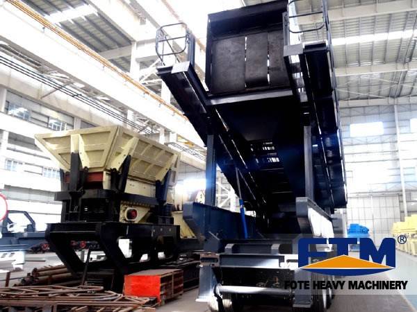 The structure of mobile crushing plant