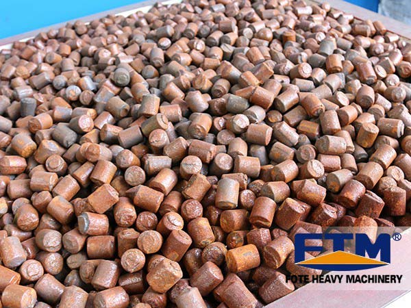 Steel balls in ball mill