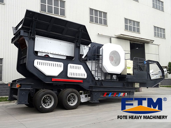 The mobile crushing plant