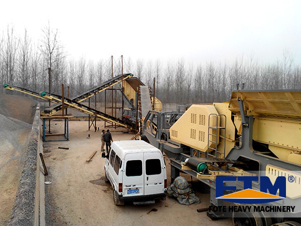The working place of mobile crusher
