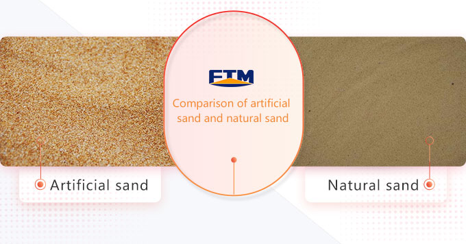Comparison between artificial sand and natural sand