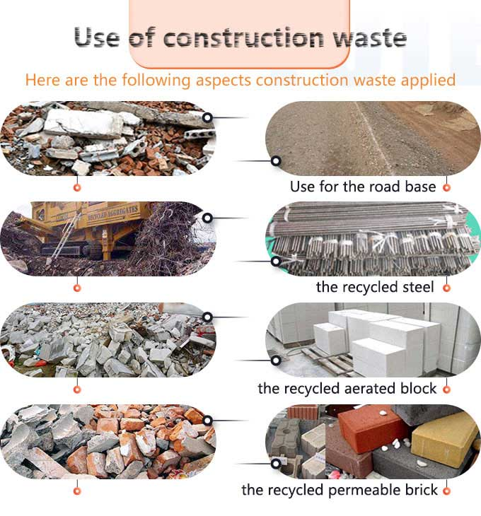 Applications of construction wastes