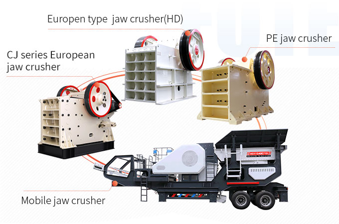 Different types of jaw crushers