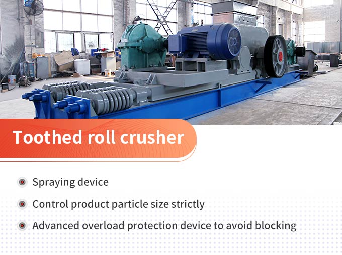 Toothed roll crusher