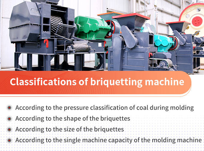 Classifications of briquetting machine