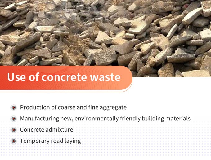 The use of concrete waste