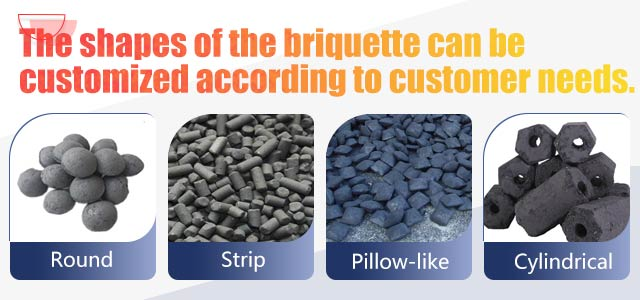 The shapes of charcoal briquette