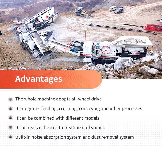 Advantages of mobile(portable) stone crusher machines