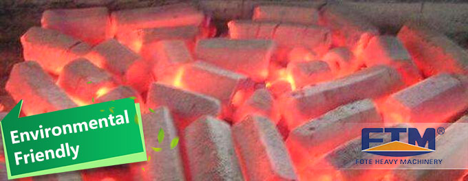 Charcoal briquettes for burning