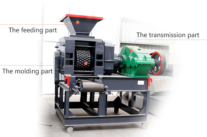 The main parts of briquette machine