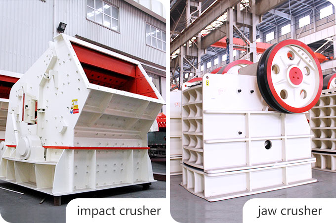 The comparison between jaw crusher and impact crusher