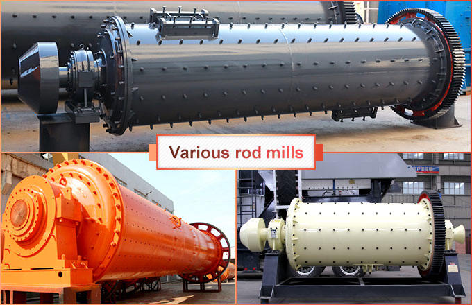 Different types of rod mills produced by FTM