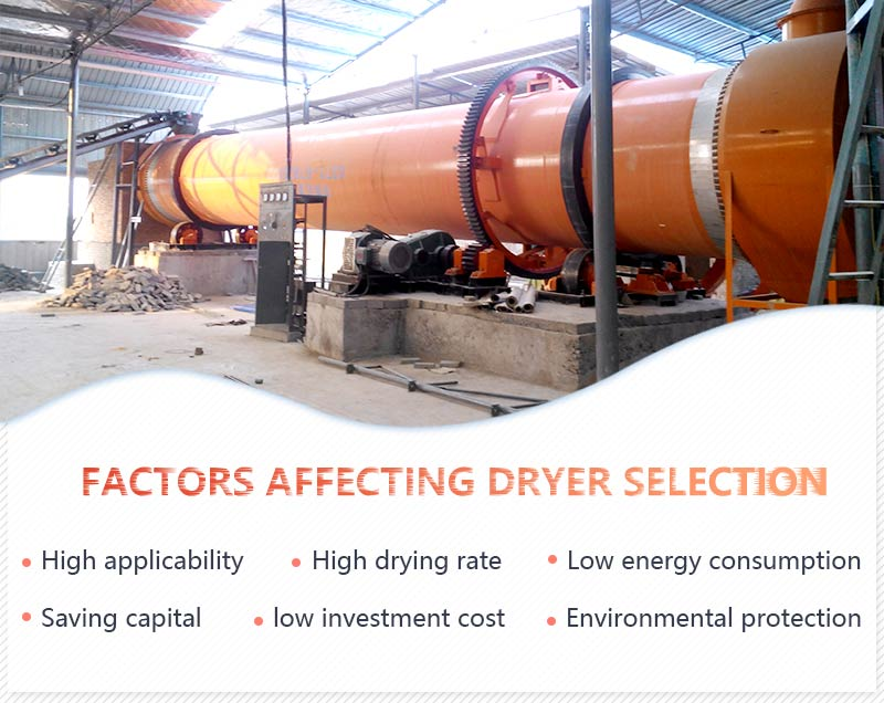Factors affecting sand dryer selection