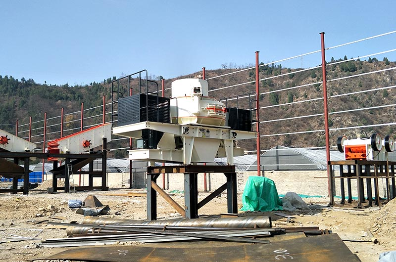 Fixed sand making machine in the working site