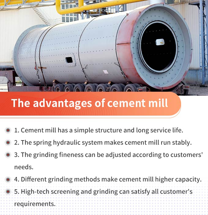Cement mill advantages
