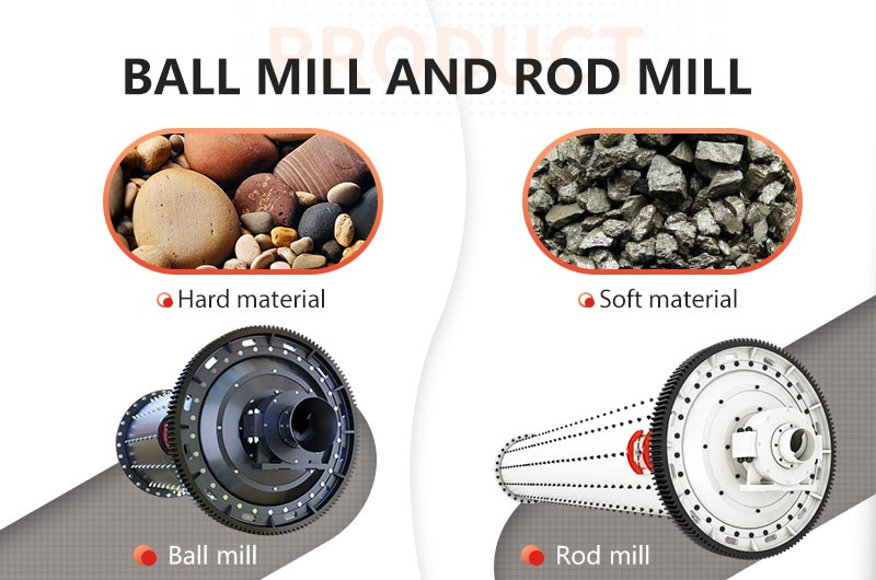 Ball mill and rod mill are suitable for different materials
