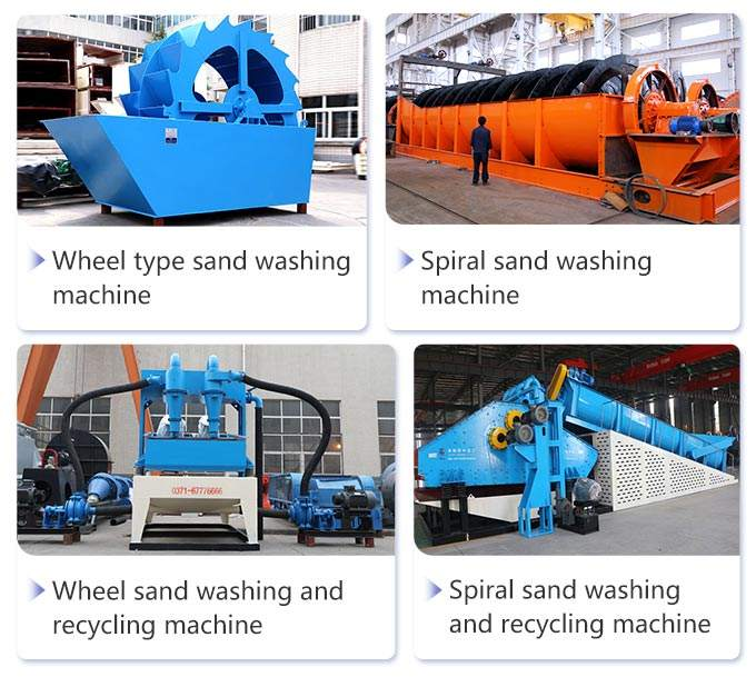 Various kinds of sand washing machines