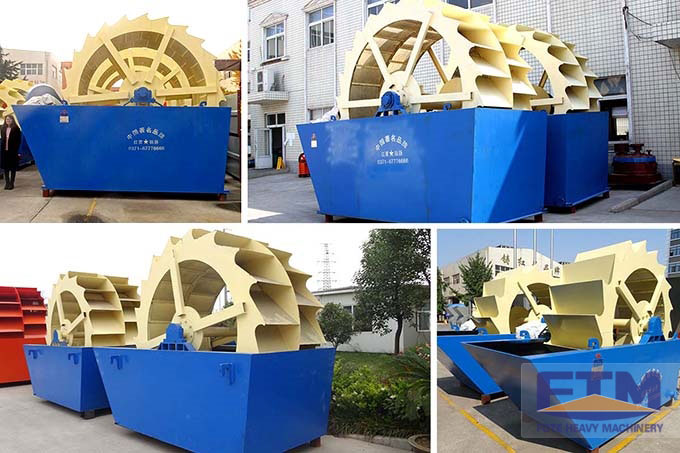 Wheel type sand washing machines with different impellers