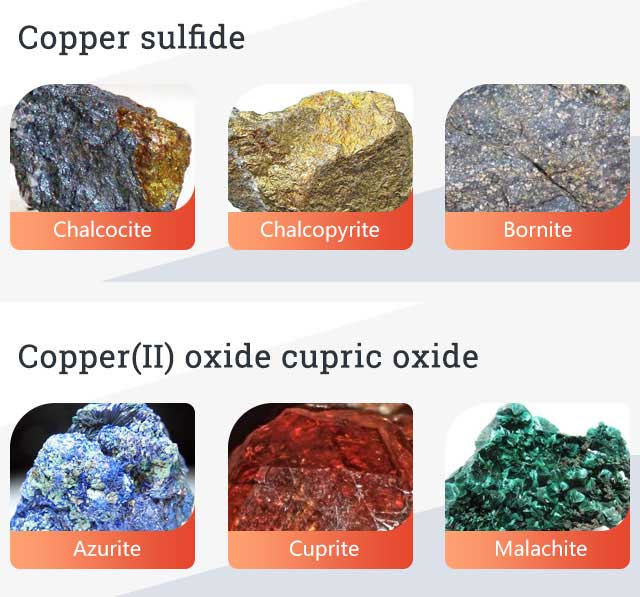 The specifications of copper ore rock