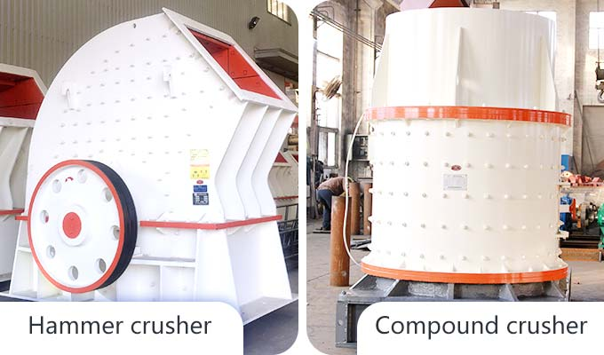 Picture of hammer crusher and compound crusher