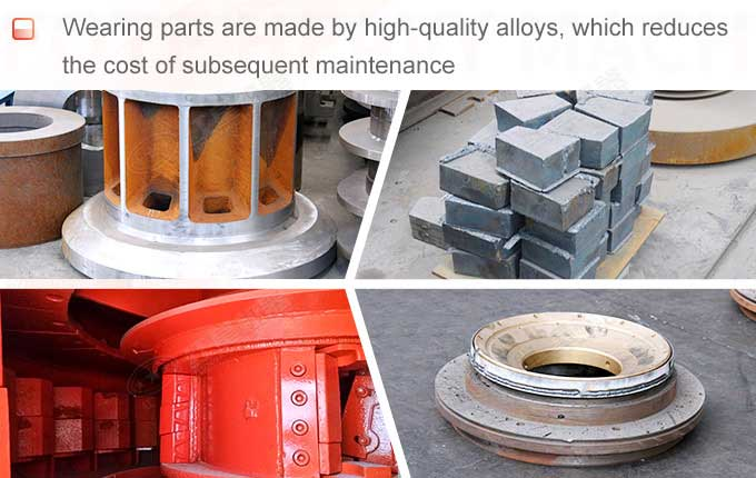 Wearing parts made by high-quality alloys