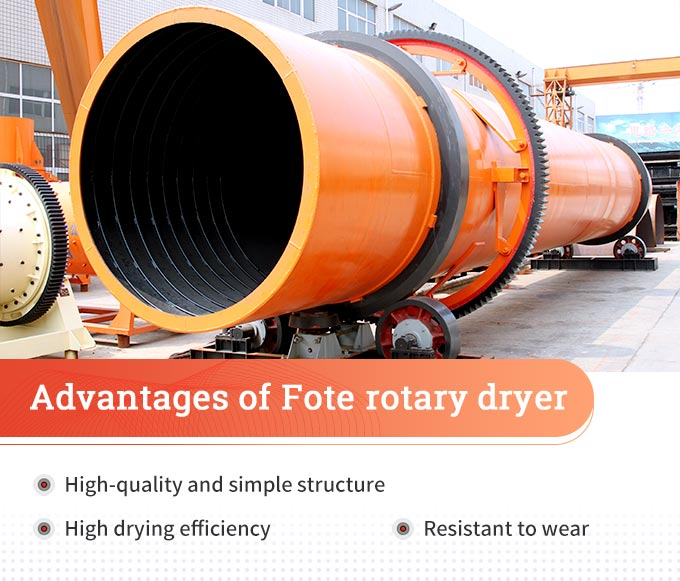 Advantages of Fote rotary dryer
