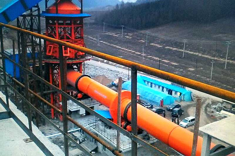Installed rotary dryer in site