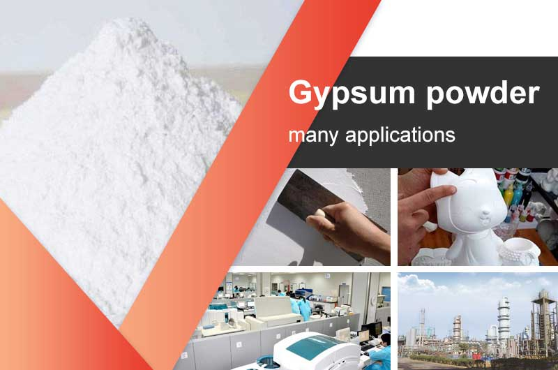 The applications of gypsum powder