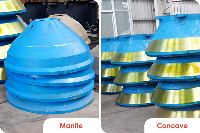 impotant parts of the cone crushers