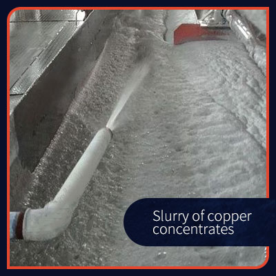 Slurry of copper concentrates