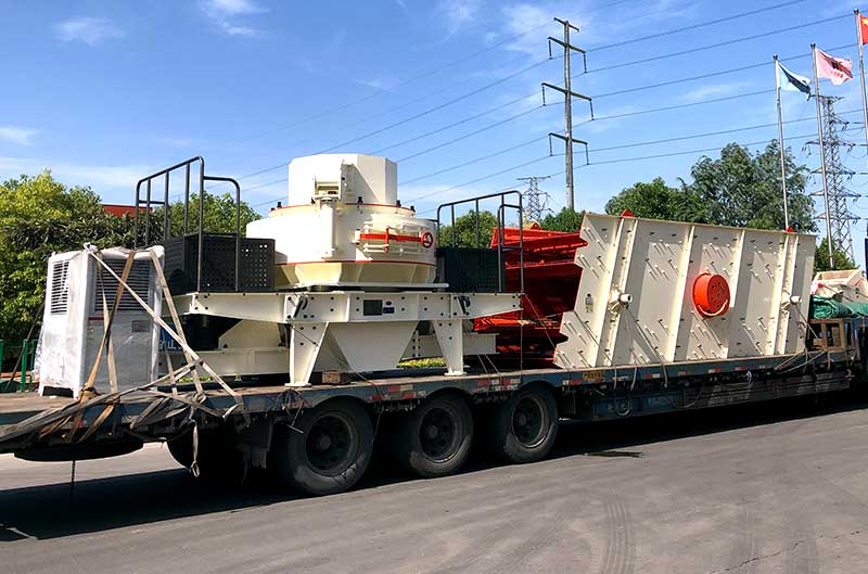Sand making machine in delivery