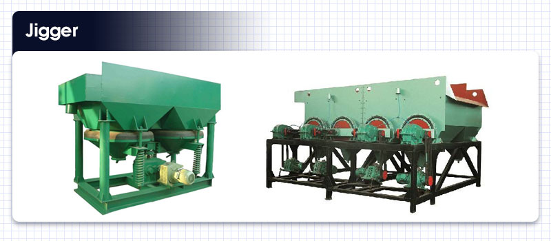 Jigger for copper ore dressing