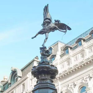 Statue of Eros on Piccadilly Circus in London