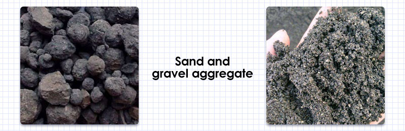 Sand and gravel aggregate