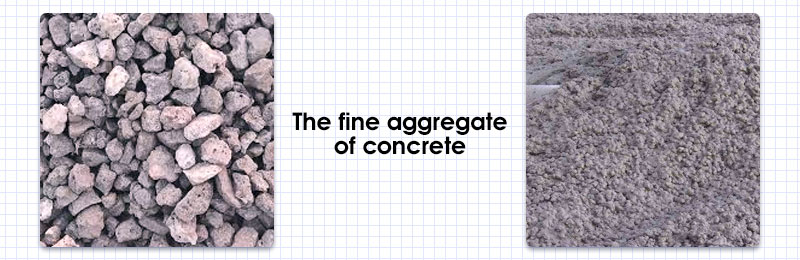 The fine aggregate of concrete