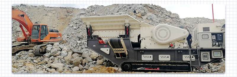 mobile crusher processing limestone