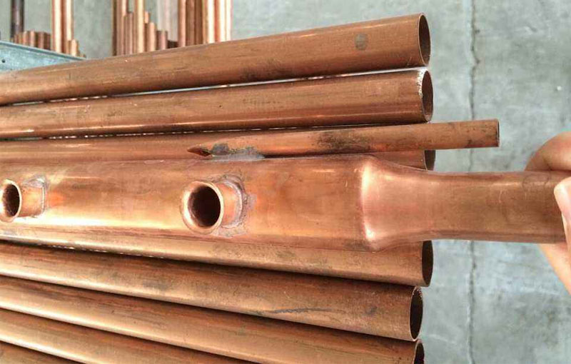 Copper tubes in solar energy