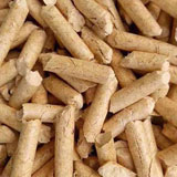 biomass pellets made of dried sawdust