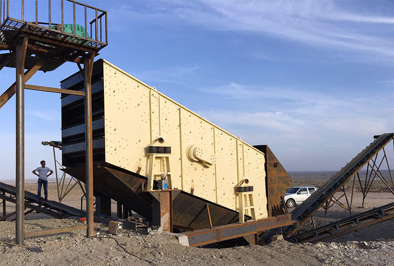 linear vibrating screen in South Africa site