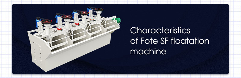 Characteristics of Fote SF floatation machine