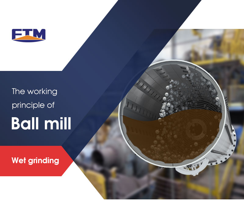 wet grinding method of a ball mill