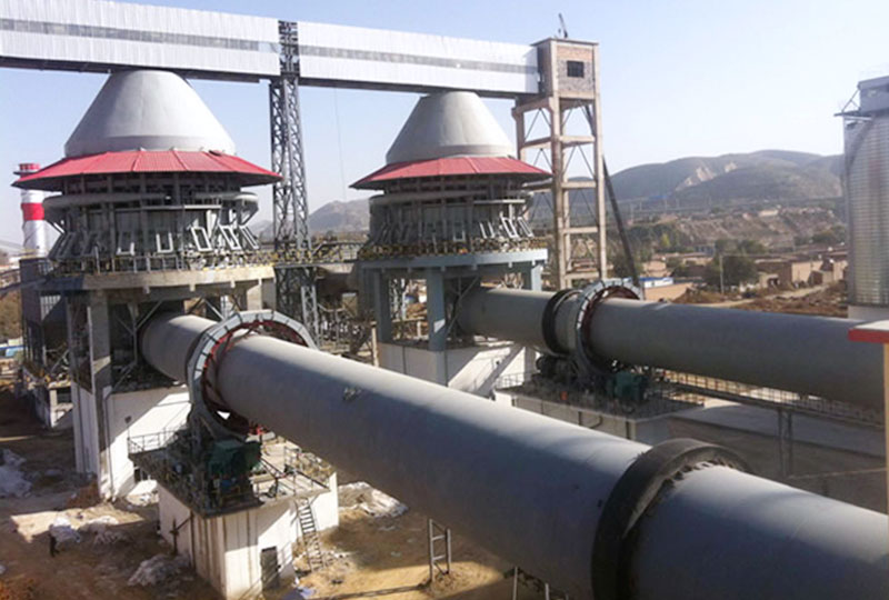 large output of the rotary kiln worksite