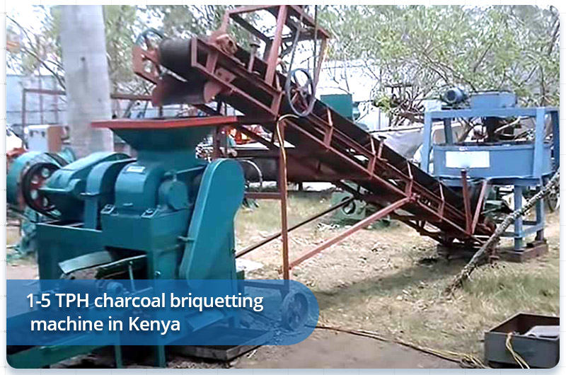 1-5 TPH charcoal briquetting machine in Kenya