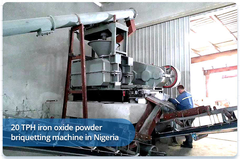 20 TPH iron oxide powder briquetting machine in Nigeria