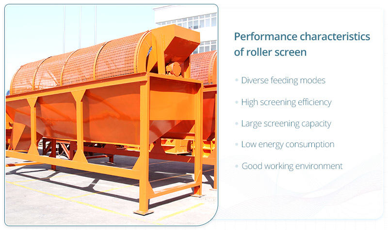 The performance characteristics of Fote trommel screen