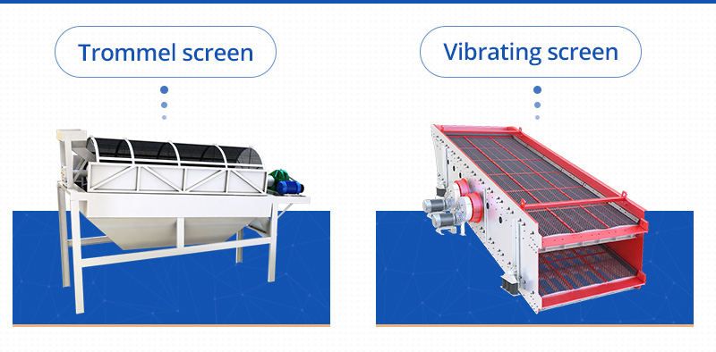 Trommel screen or vibrating screen