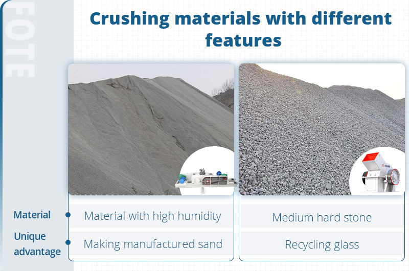 differences between hammer crusher and roll crusher