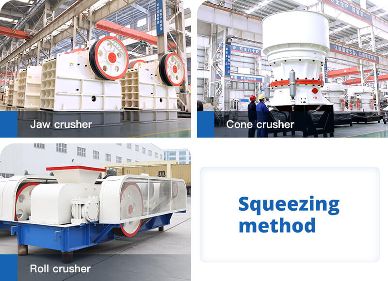 Squeezing method and crushers adopt it